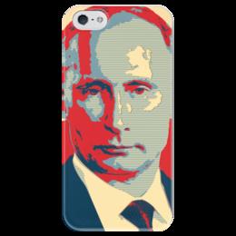 "Чехол для iPhone 5 глянцевый, с полной запечаткой ""Владимир Путин"" - путин, putin, владимир путин"