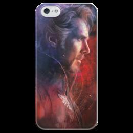 """Чехол для iPhone 5 глянцевый, с полной запечаткой """"Доктор Стрэндж"""" - доктор, комиксы, doctor, марвел, dr strange"""