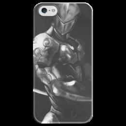 """Чехол для iPhone 5 глянцевый, с полной запечаткой """"Гэндзи"""" - blizzard, близзард, overwatch, овервотч, genji"""