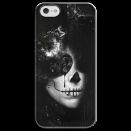 """Чехол для iPhone 5 глянцевый, с полной запечаткой """"Монохромный стимпанк"""" - goth, steampunk, стимпанк"""