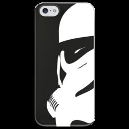 """Чехол для iPhone 5 глянцевый, с полной запечаткой """"Штурмовик"""" - star wars, звездные войны, stormtrooper, дарт вейдер, стар варс"""