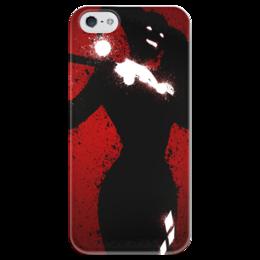 """Чехол для iPhone 5 глянцевый, с полной запечаткой """"Харли Квинн"""" - джокер, комиксы, harley quinn, харли квинн, бэтмен"""