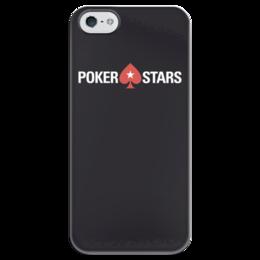 """Чехол для iPhone 5 глянцевый, с полной запечаткой """"POKERSTARS"""" - покер, казино, pokerstars, casino, full tilt poker"""