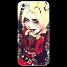 """Чехол для iPhone 5 глянцевый, с полной запечаткой """"Харли Квинн"""" - комиксы, джокер, бэтмен, харли квинн, harley quinn"""