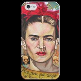 """Чехол для iPhone 5 глянцевый, с полной запечаткой """"Frida Kahlo """" - любовь, черепа, художник, фрида, frida kahlo"""