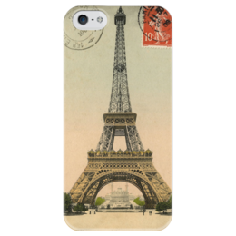 """Чехол для iPhone 5 глянцевый, с полной запечаткой """"The Eiffel Tower"""" - париж, paris, эйфелева башня, eiffel tower"""