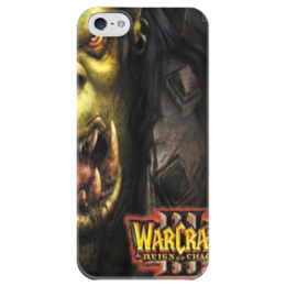 "Чехол для iPhone 5 глянцевый, с полной запечаткой ""Warcraft 3 Reign Of Chaos"" - warcraft, blizzard, варкрафт, war3, warcraft 3, reign of chaos, warcraft 3 reign of chaos, варкрафт 3, близзард"