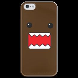 "Чехол для iPhone 5 глянцевый, с полной запечаткой ""Домо - кун"" - мульт, домо - кун"