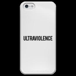 """Чехол для iPhone 5 глянцевый, с полной запечаткой """"Ultraviolence Logo"""" - ultraviolence, lana del rey, лана дель рей"""