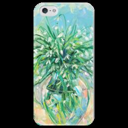 """Чехол для iPhone 5 глянцевый, с полной запечаткой """"Подснежники"""" - цветы, весна, подснежники"""