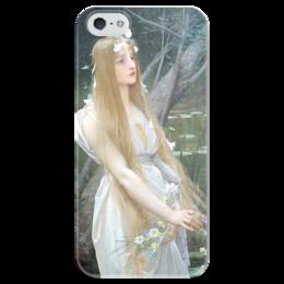 """Чехол для iPhone 5 глянцевый, с полной запечаткой """"Офелия (Ophelia)"""" - картина, лефевр"""
