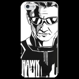 """Чехол для iPhone 5 глянцевый, с полной запечаткой """"Соколиный Глаз"""" - комиксы, мстители, avengers, марвел, hawkeye"""