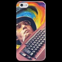 """Чехол для iPhone 5 глянцевый, с полной запечаткой """"Страх и ненависть в Лас-Вегасе"""" - страх и ненависть в лас-вегасе, джонни депп, рауль дьюк"""