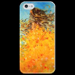 "Чехол для iPhone 5 глянцевый, с полной запечаткой ""Красавица осень"" - арт, осень, валерия меценатова"