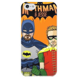 """Чехол для iPhone 5 глянцевый, с полной запечаткой """"Heisenberg and Jessie"""" - во все тяжкие, breaking bad, pinkman, уолтер уайт, heisenberg, jesse, джесси"""