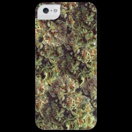"Чехол для iPhone 5 глянцевый, с полной запечаткой ""Kush "" - cannabis, конопля, марихуана, канабис, high"