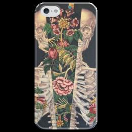 """Чехол для iPhone 5 глянцевый, с полной запечаткой """"Цикличность"""" - skulls"""