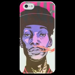 "Чехол для iPhone 5 глянцевый, с полной запечаткой ""Swag smoke"" - smoke, swag, huf"