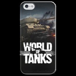 "Чехол для iPhone 5 глянцевый, с полной запечаткой ""World of Tanks"" - world of tanks, танки, wot"