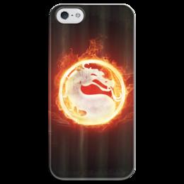 """Чехол для iPhone 5 глянцевый, с полной запечаткой """"Mortal Kombat"""" - огонь, mortal kombat, fire, смертельная битва"""