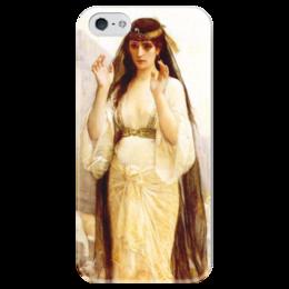 """Чехол для iPhone 5 глянцевый, с полной запечаткой """"Дочь Иеффая (картина Кабанеля)"""" - картина, кабанель"""