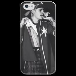 """Чехол для iPhone 5 глянцевый, с полной запечаткой """"Justin Bieber"""" - justin bieber, джастин, бибер"""