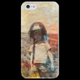 """Чехол для iPhone 5 глянцевый, с полной запечаткой """"Пилот"""" - ссср, ретро, пилот, рожденные в ссср"""