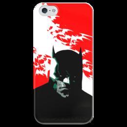"""Чехол для iPhone 5 глянцевый, с полной запечаткой """"Batman"""" - арт, комиксы, batman, бетмен"""
