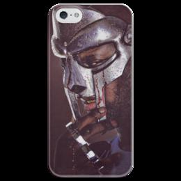 """Чехол для iPhone 5 глянцевый, с полной запечаткой """"MF DOOM HIP HOP UNDERGROUND"""" - арт, hiphop, hip hop, хипхоп, mf doom, daniel dumile, дэниел думилэй"""