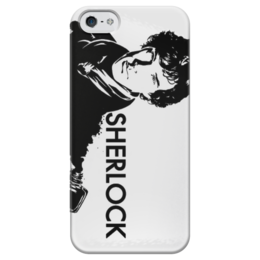 "Чехол для iPhone 5 глянцевый, с полной запечаткой ""Шерлок"" - sherlock, шерлок, baker street"