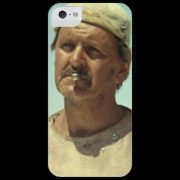 """Чехол для iPhone 5 глянцевый, с полной запечаткой """"Господин Би"""" - кин-дза-дза, плюк, яковлев, данелия, кино"""