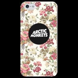 """Чехол для iPhone 5 глянцевый, с полной запечаткой """"Arctic Monkeys"""" - art, band, rock, pop, arctic monkeys, alex turner, арктик манкис, inde"""