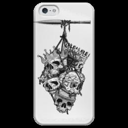 """Чехол для iPhone 5 глянцевый, с полной запечаткой """"Король Королей"""" - арт, воин"""