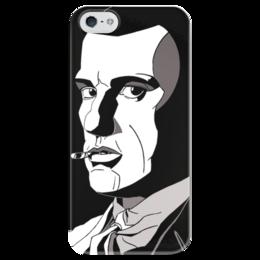 """Чехол для iPhone 5 глянцевый, с полной запечаткой """"Маяковский"""" - арт, маяковский, футуризм, поэзия, литература"""