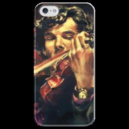 "Чехол для iPhone 5 глянцевый, с полной запечаткой ""Sherlock"" - sherlock, шерлок, шерлок холмс, sherlock bbs"