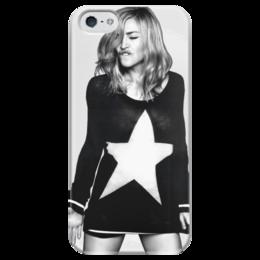 """Чехол для iPhone 5 глянцевый, с полной запечаткой """"Madonna"""" - музыка, madonna, мадонна, кумир"""