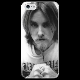 """Чехол для iPhone 5 глянцевый, с полной запечаткой """"Varg Vikernes"""" - викинг, варг, burzum, путь воина, варг викернес"""