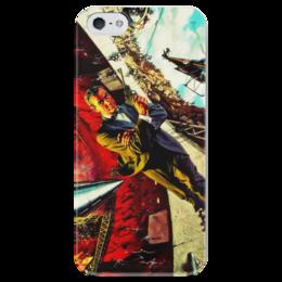 """Чехол для iPhone 5 глянцевый, с полной запечаткой """"Джеймс Бонд"""" - арт, 007, фильмы, james bond, бонд, коннери, secret agent, агент 007"""