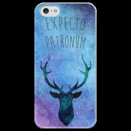"""Чехол для iPhone 5 глянцевый, с полной запечаткой """"Expecto Patronum"""" - арт, harry potter, гарри поттер, hogwarts"""