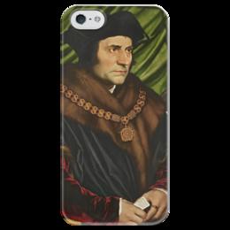 """Чехол для iPhone 5 глянцевый, с полной запечаткой """"Портрет Томаса Мора"""" - картина, гольбейн"""