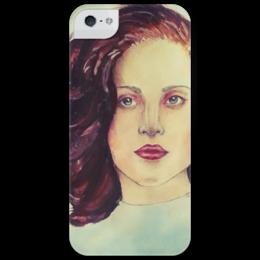 """Чехол для iPhone 5 глянцевый, с полной запечаткой """"""""Lady Gaga - Dope"""" от SAS094"""" - арт, в подарок, lady gaga, леди гага, dope"""