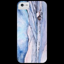 "Чехол для iPhone 5 глянцевый, с полной запечаткой ""winter landscape"" - арт, зима, снег, snow, cold"