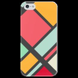 """Чехол для iPhone 5 глянцевый, с полной запечаткой """"Модерн"""" - узор, стиль, орнамент, абстракция, модерн"""