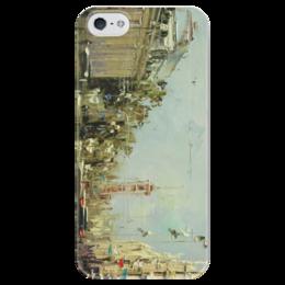 """Чехол для iPhone 5 глянцевый, с полной запечаткой """"Питер 1"""" - санкт-петербург"""
