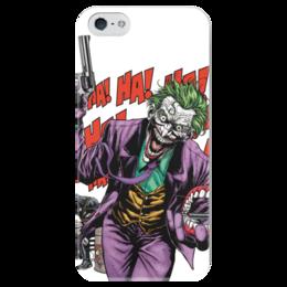"""Чехол для iPhone 5 глянцевый, с полной запечаткой """"Бэтмен и Джокер"""" - joker, комиксы, batman, dc, dc comics"""