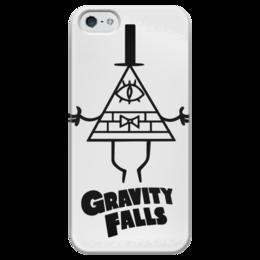 "Чехол для iPhone 5 глянцевый, с полной запечаткой ""Билл Шифр"" - gravity falls, гравити фолз, bill cipher, билл шифр"