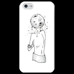 "Чехол для iPhone 5 глянцевый, с полной запечаткой ""Шаман"" - этно, луна, сказка, шаман, фантазия"