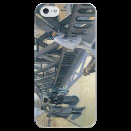 """Чехол для iPhone 5 глянцевый, с полной запечаткой """"Мост Европы (картина Кайботта)"""" - картина, кайботт"""