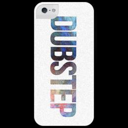 "Чехол для iPhone 5 глянцевый, с полной запечаткой ""CosmoDUB"" - london, dubstep, дабстеп, uk, гэридж"
