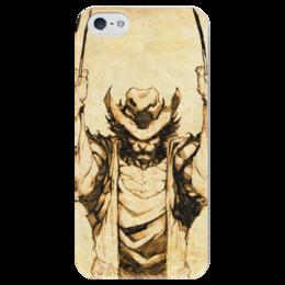 """Чехол для iPhone 5 глянцевый, с полной запечаткой """"Росомаха"""" - комиксы, люди икс, марвел, wolverine, логан"""